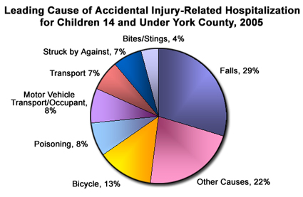 Leading cause of accidental injury-related hospitalization for children 14 and under York County, 0005